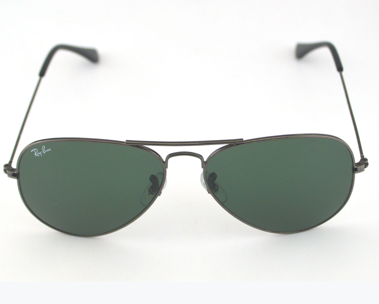 b5fd0d60744 Ray Ban RB 3025 Aviator Classic W0879 Gun metal  Green Classic G-15 Lens  Unisex Sunglasses 58mm