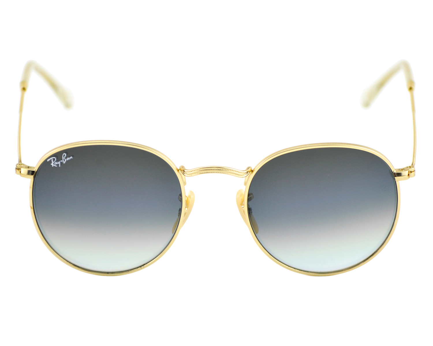 Ray-Ban RB3447 Round Metal 112/32 Gold Frame/Grey Gradient Lenses ...