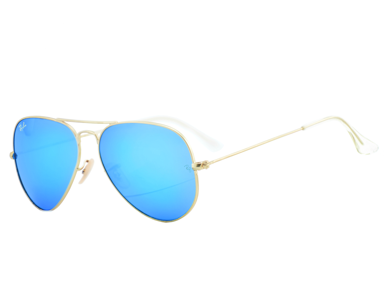 Ray-Ban RB 3025 Aviator Flash Lenses 112/17 Gold Frame/Blue Flash ...