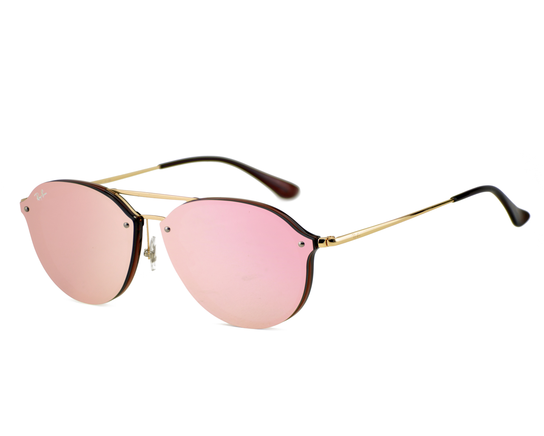 96b4181fb4 Ray-Ban RB4292N Blaze Double Bridge 6327 E4 Brown Gold Frame Pink Mirror  Lenses Unisex Sunglasses 62mm