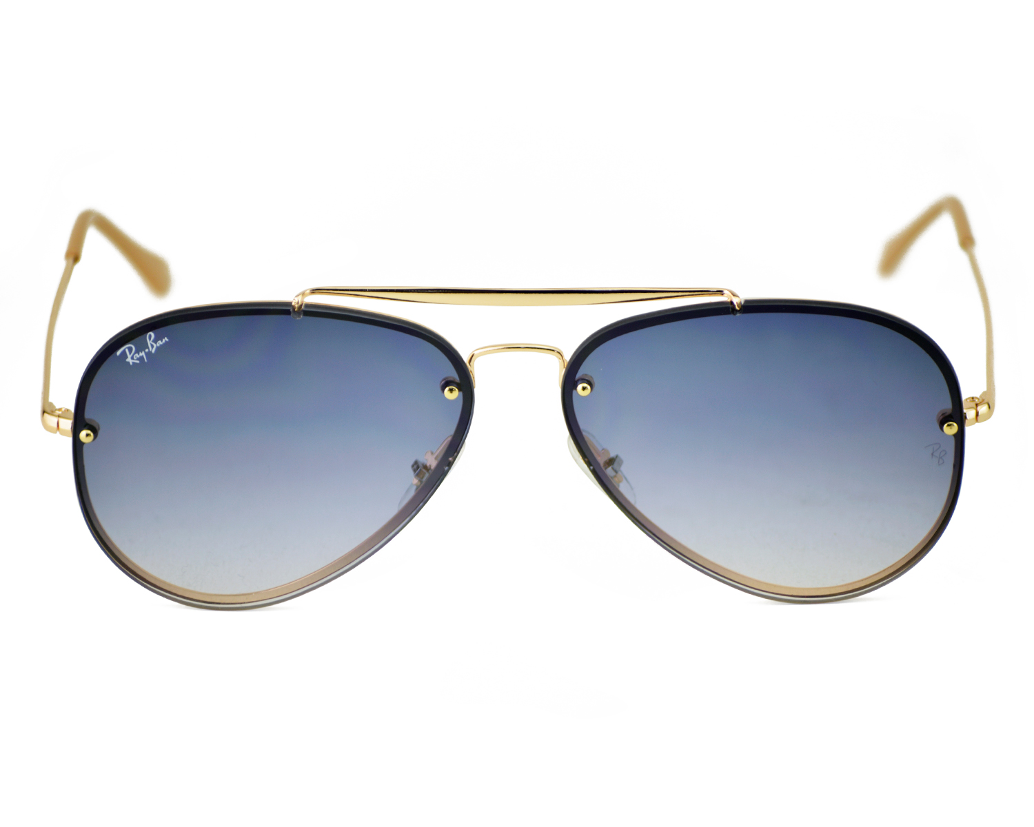 3130aea0e61 Ray-Ban RB3584N Blaze Aviator 001 19 Gold Frame Light Blue Gradient Lenses  Unisex Sunglasses 58mm
