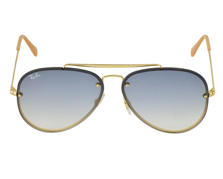 04543621b0 Ray-Ban RB3584N Blaze Aviator 001 19 Gold Frame Light Blue Gradient Lenses  Unisex Sunglasses 61mm
