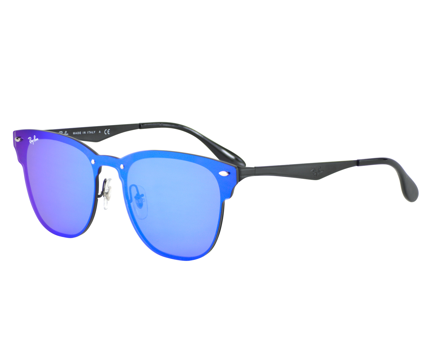 237ad2edad ... coupon code for ray ban rb3576n blaze clubmaster 153 7v black frame  violet blue mirror lenses