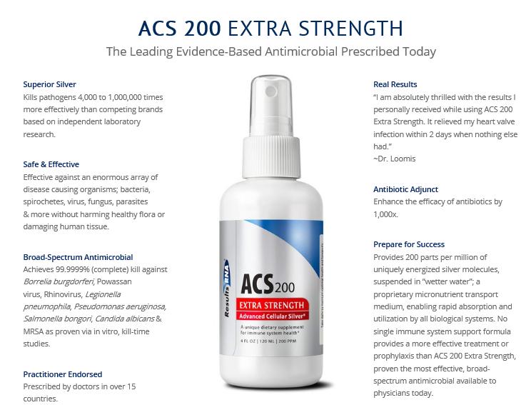 ACS 200 Extra Strength - Advanced Cellular Silver - 4 fl