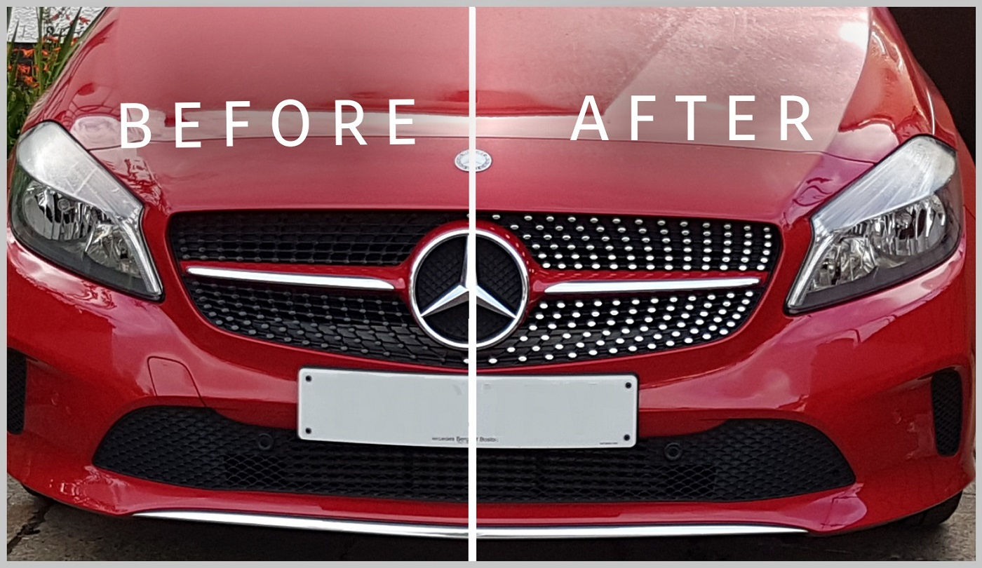 Mercedes W176 Cla Front Grill Chrome Sports Stickers