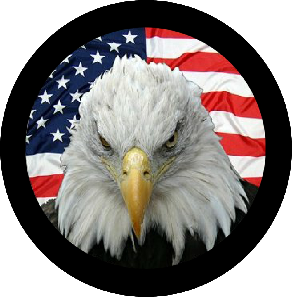 eagle flag tire cover. Black Bedroom Furniture Sets. Home Design Ideas