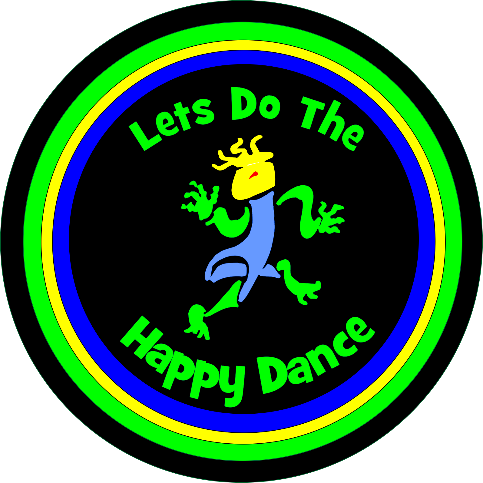 Happy Dancing Lizard Spare Tire Cover
