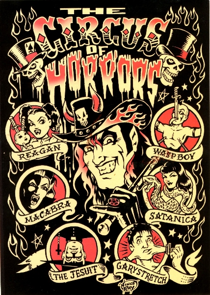 Freak Show Vince Ray A5 Circus Of Horrors Picture Card