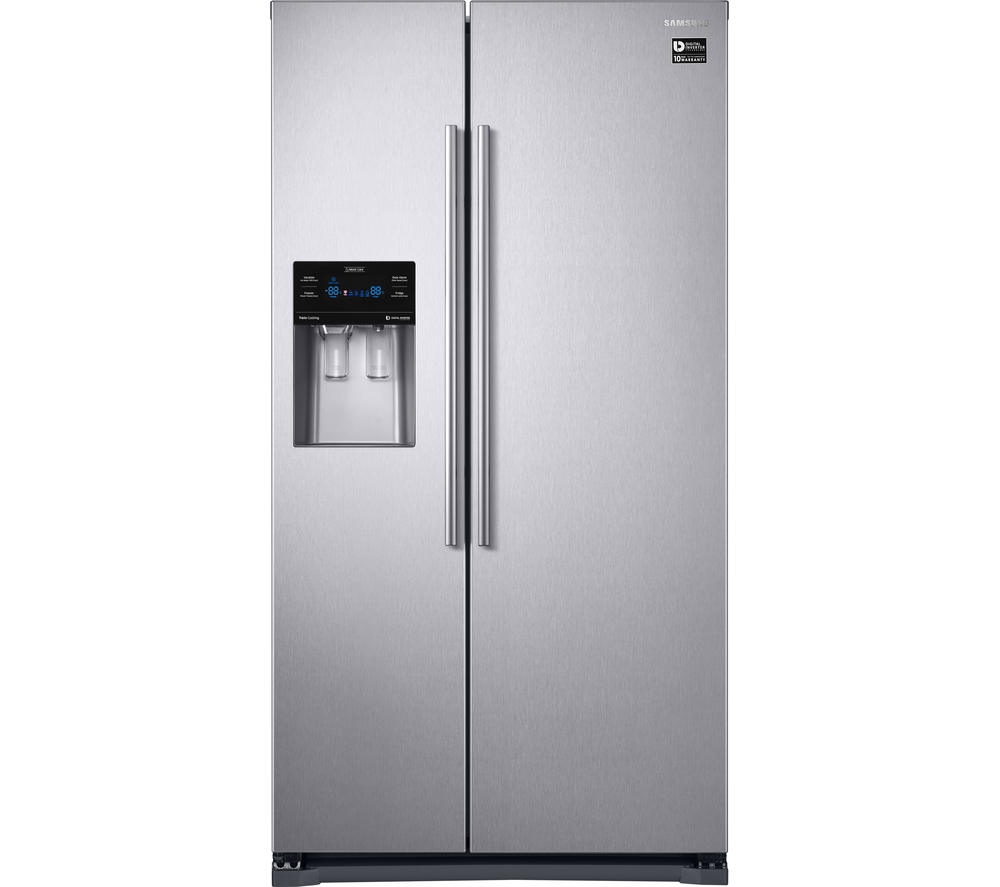 Samsung Side By Side side by side plumbed water fridge freezer metal graphite
