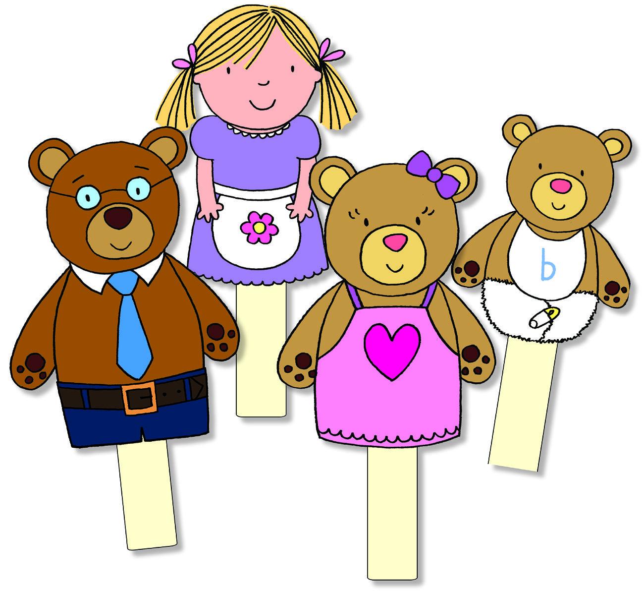 goldilocks the three bears storysticks rh eqd co uk goldilocks and the 3 bears clipart goldilocks and the 3 bears clipart