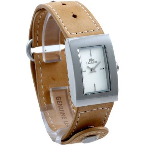 Lacoste Law6200l32 Ladies Ivory Dial Tan Leather Strap Watch