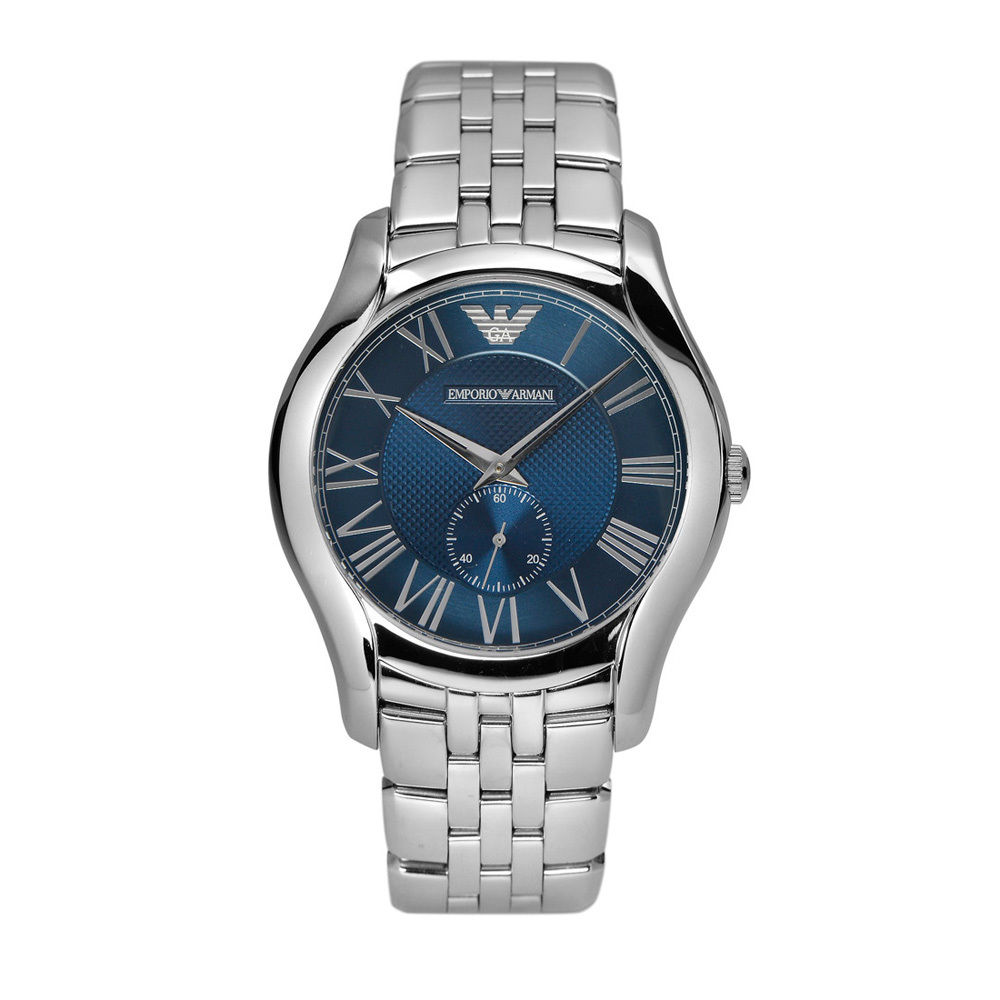 Emporio Armani Valente Ar1789 Blue Face Stainless Steel Watch
