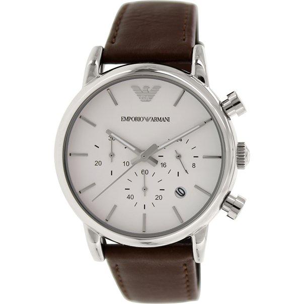 Emporio Armani AR1846 Men's Classic Brown Leather Quartz Watch