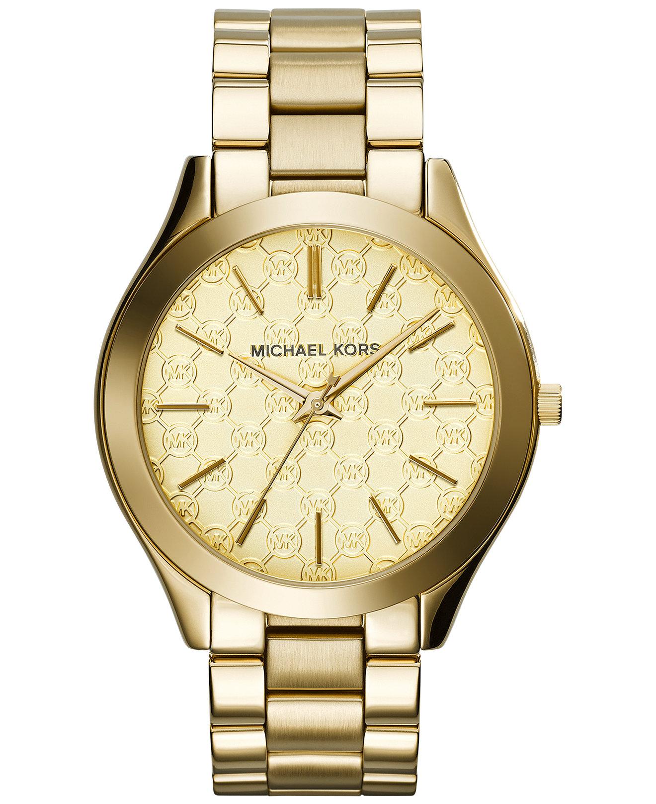 michael kors mk3335 ladies gold tone bracelet watch. Black Bedroom Furniture Sets. Home Design Ideas