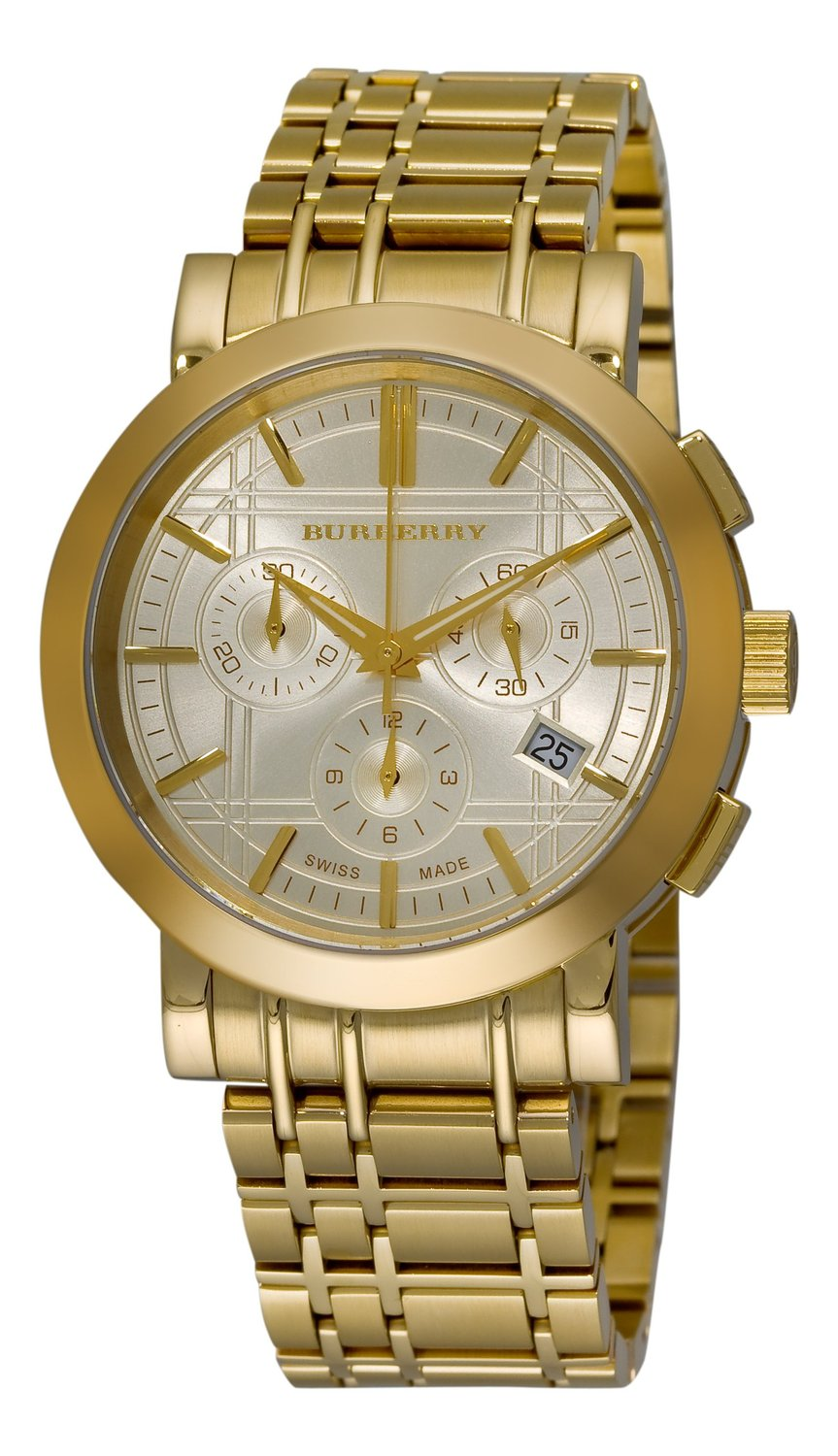 Burberry Bu1757 Heritage Gold Plated Stainless Steel Men S