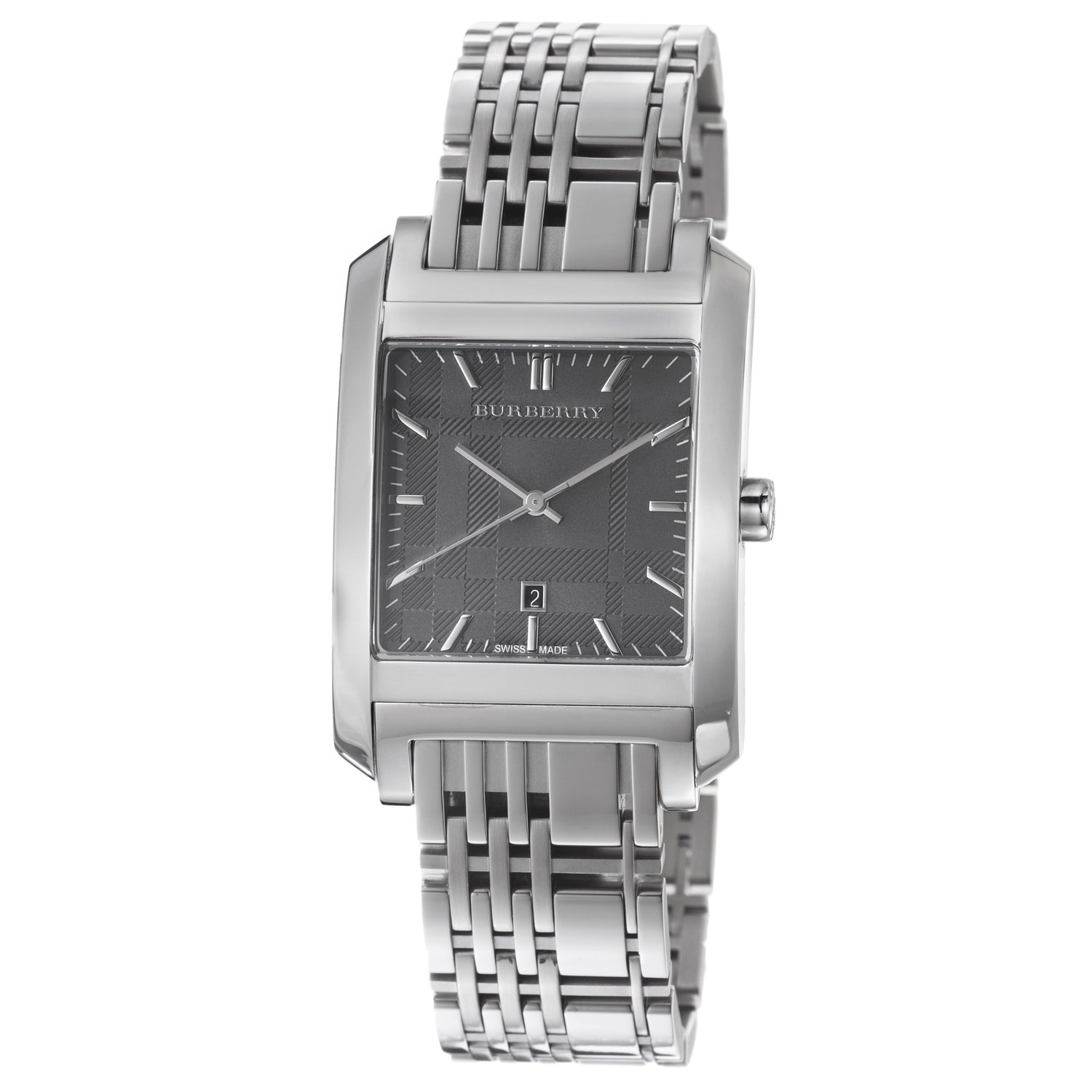 Burberry Men S Bu1568 Square Stainless Steel Bracelet Watch