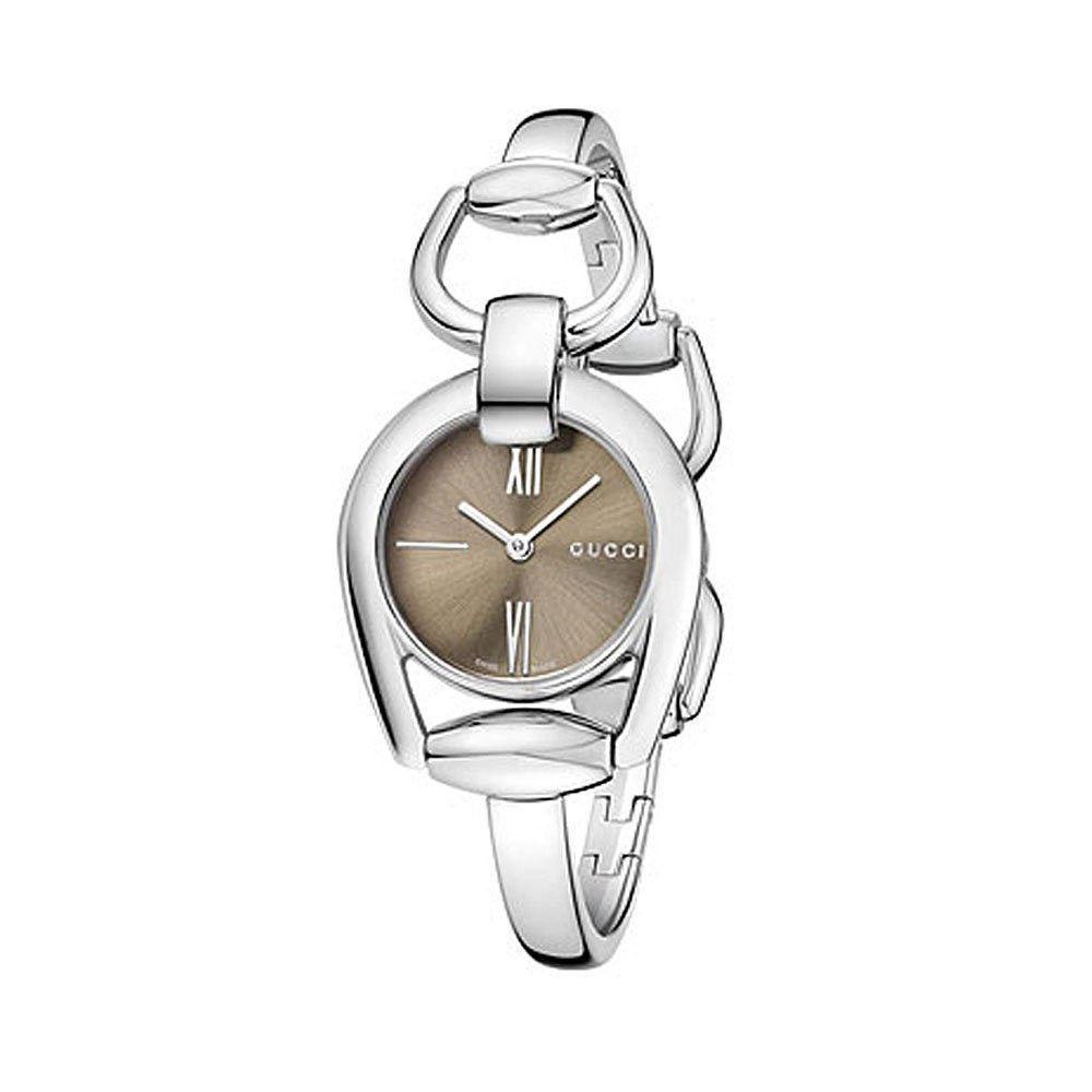 Gucci Ya139501 Horsebit Stainless Steel Women S Bangle Watch