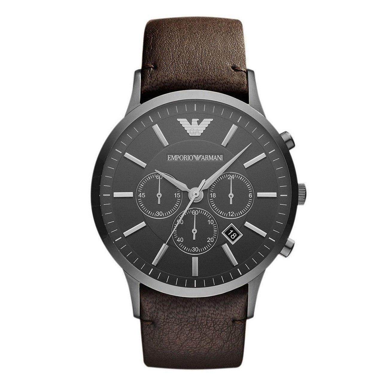 Emporio Armani Ar2462 Men S Sportivo Leather Strap Watch