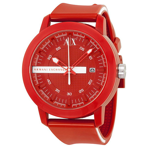 armani exchange red dial red plastic mens watch armani exchange red dial red plastic mens watch ax1235