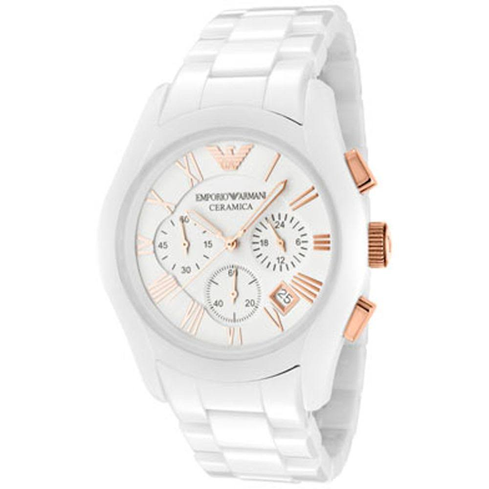 watch white armani watch white