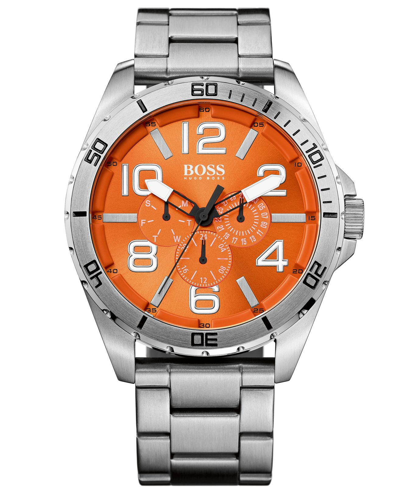 Hugo Boss Orange 1512944 48mm Silver Steel Bracelet Amp Case