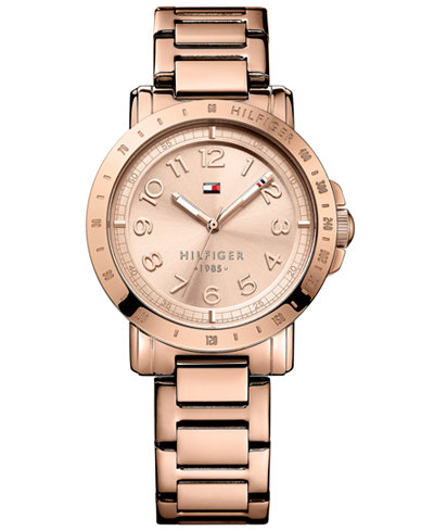 tommy hilfiger rose gold tone ladies watch 1781396. Black Bedroom Furniture Sets. Home Design Ideas