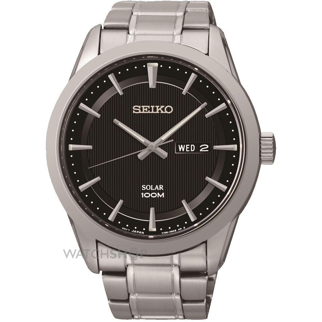 Seiko Solar Gents Bracelet Watch Sne363p1