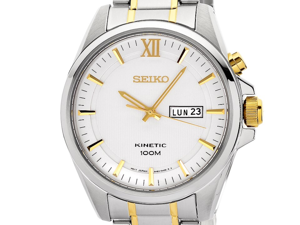 Seiko kinetic gents bracelet watch smy161p1 for Movado kinetic
