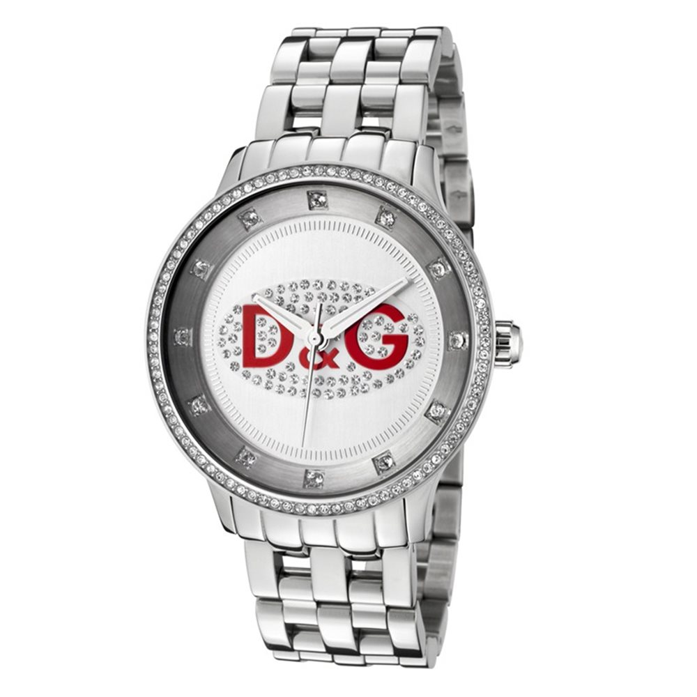 D&G DW0144 - Dolce & Gabbana PRIME TIME Red Logo Unisex Desi