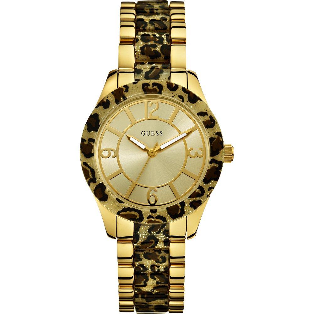 Guess W0014L2 Goddess Gold Tone Leopard Print Bracelet ... - photo #46