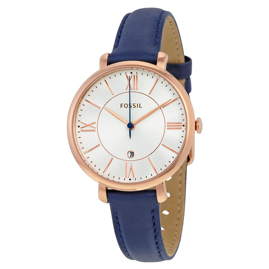 Fossil ES3843 Women s Blue Leather Quartz Dress Watch bb35640081