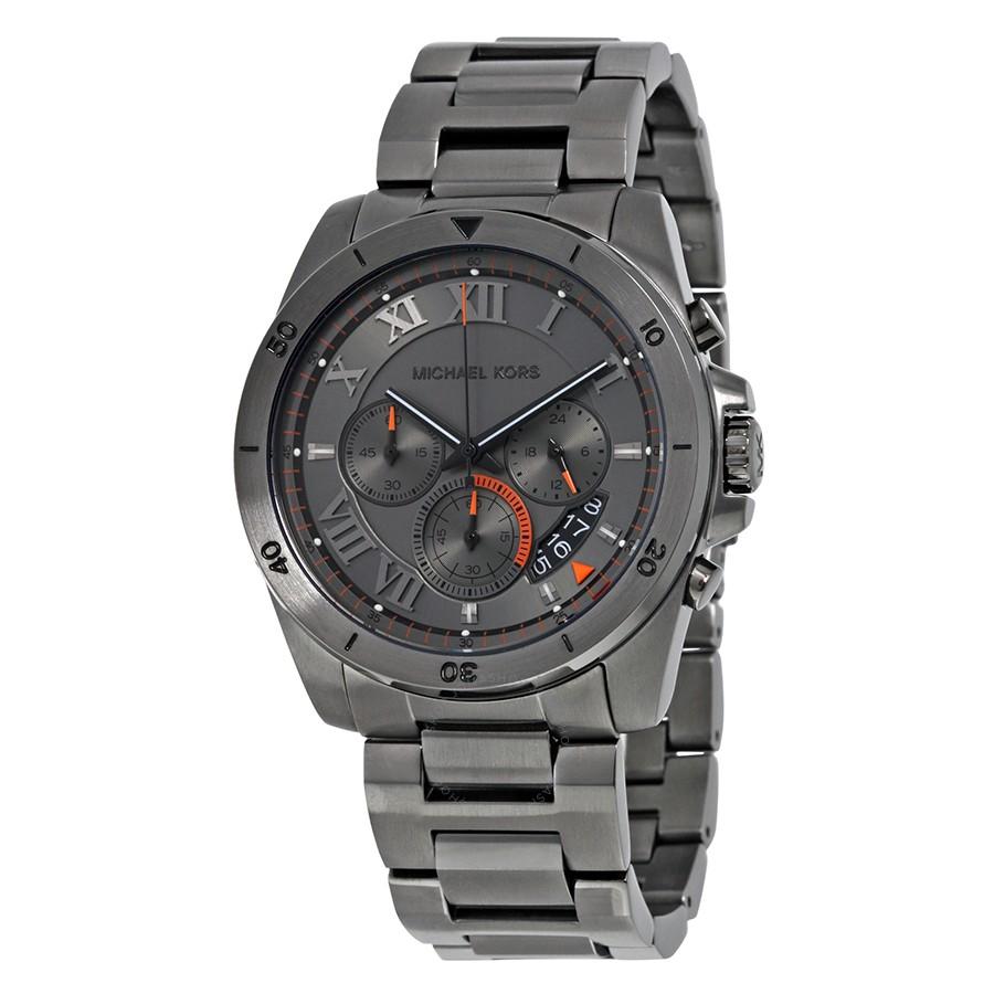 50eab8b3a6df Michael Kors MK8465 Brecken Chronograph Grey Dial Men s Watch