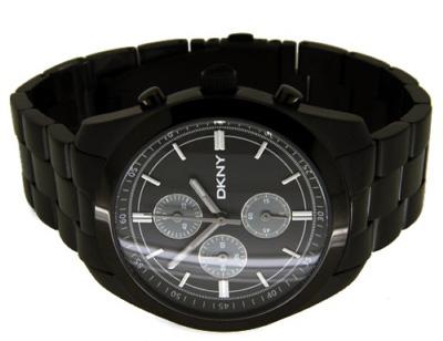 dkny ny1248 black plated mens chronograph designer watch