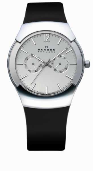 Skagen Black Label 583xlslc Mens Swiss Chrome Black Watch