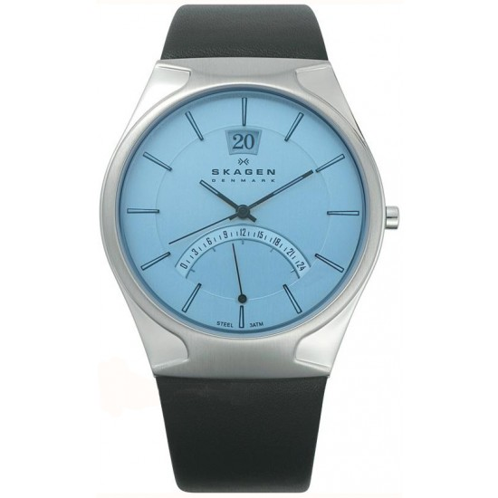 skagen s 668xlslzi sports leather steel