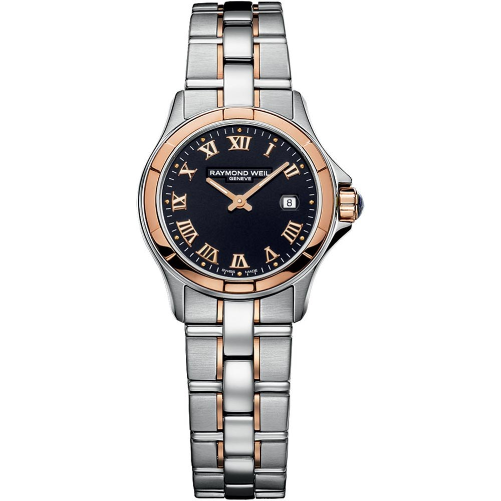 Raymond Weil Womens 9460 Sg5 00208 Parsifal Rose Gold Watch