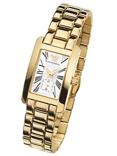 Emporio Armani Ar0175 Classic Gold Plated Ladies Designer Wa