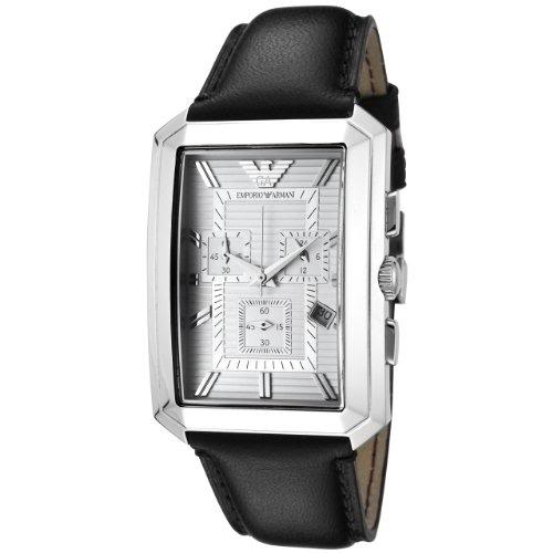 Emporio Armani AR0472 Mens Rectangular Chrono Black ...