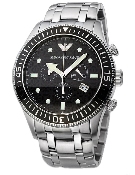 Emporio Armani Ar0553 Mens Sports Style Steel Designer Watch