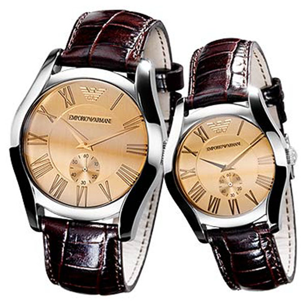 Emporio Armani His Amp Hers Classic Watches Ar0645 Amp Ar0646