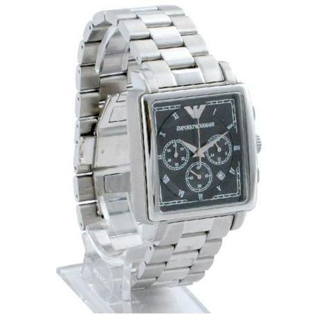 emporio armani ar5331 stainless steel chronograph mens desig