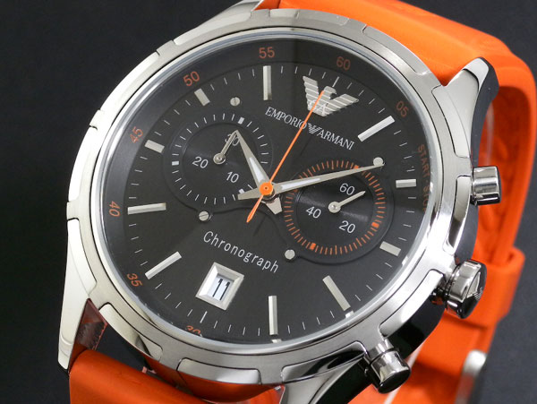 emporio armani ar5849 mens orange sports posh watch was £239 99