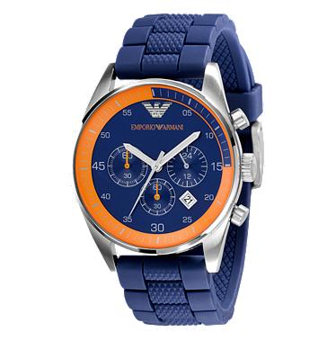 emporio armani sports chrono orange mens ar5864