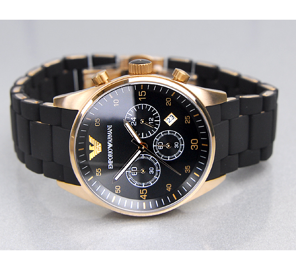 emporio armani mens chronograph watch ar5905 designerposhwatches ar5905 armani ar5905 mens chronograph rose gold black watch