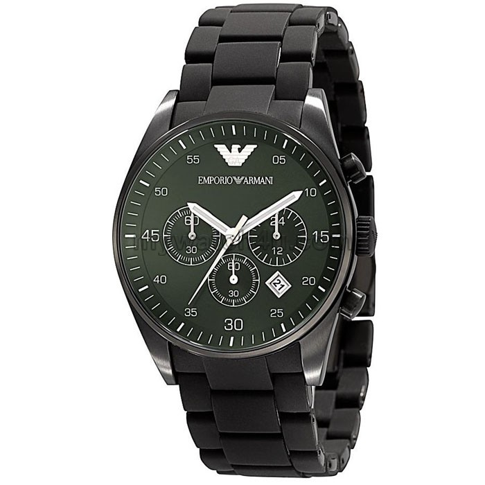 sport mens ar5922 chrono green dial quartz silicon watch armani sport mens ar5922 chrono green dial quartz silicon watch