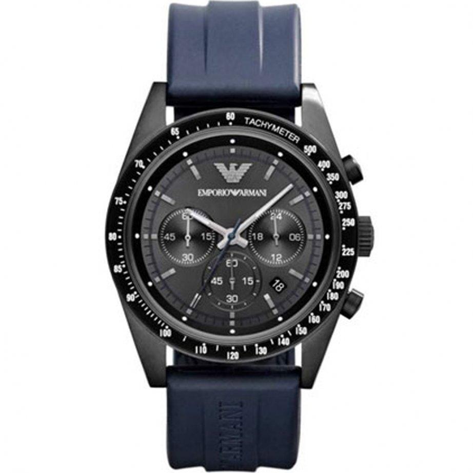 Emporio Armani Ar6113 Mens Tazio Ion Chronograph Blue