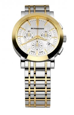silver and gold two tone burberry men s watch bu1374 burberry men s bu1374 silver and gold two tone watch
