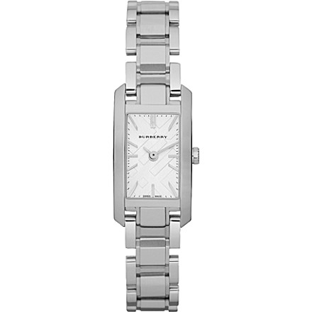 Burberry Bu9600 Rectangular Face Ladies Stainless Steel Watch