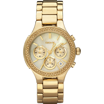 dkny watches ny8058 womens gold plated stainless steel