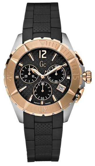 Guess Collection Authentic Gold Black Unisex Sports Watch I33501m1